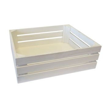Bisetti Gnbox 1-2 Wood White 32x26xh10.5cm