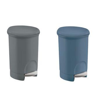 Meliconi Round Plastic Bathroom Pedalbin 14l 2 Types