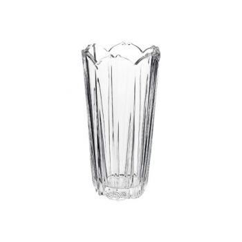 Bormioli Corolla Vase 23 Transparent Rund Glas