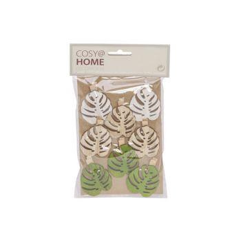 Cosy @ Home Klammer Set8 Leaf 5cm Holz