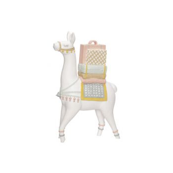 Cosy @ Home Lama With Saddle White 20x8xh30cm Resine