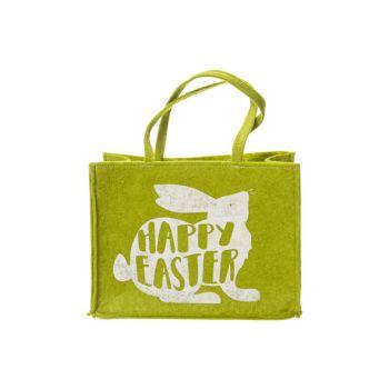 Cosy @ Home Tragetasche Happy Easter Rabbit Grun 25x