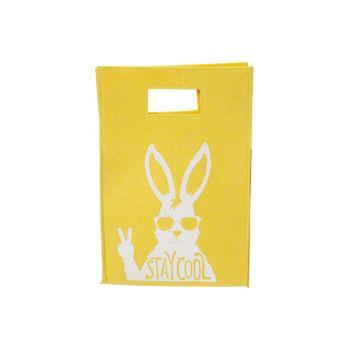 Cosy @ Home Dekosack Stay Cool Rabbit Gelb 25,5x38xh