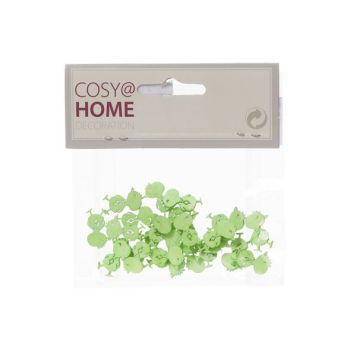 Cosy @ Home Huhn Deco 24pcs In Polybag Pastell Grun