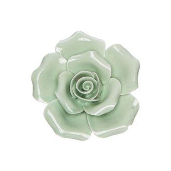 Cosy @ Home Blume Mint 6x6xh3cm Porzellan