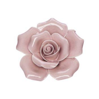 Cosy @ Home Blume Rosa 6x6xh3cm Porzellan