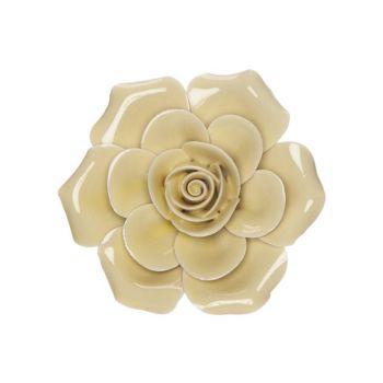 Cosy @ Home Rose Gelb 6x6xh3cm Porzellan