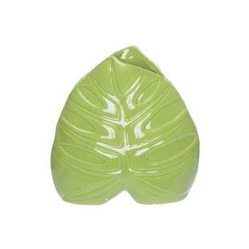Cosy @ Home Vase Leaf Grun 15x6,3xh15,3cm Porzellan