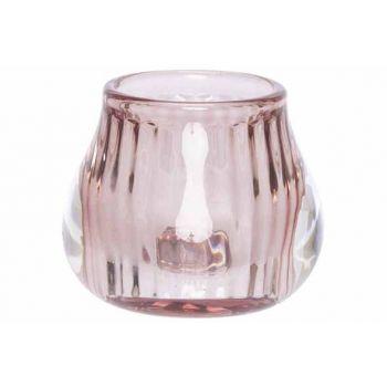 Cosy @ Home Teelichthalter Rosa 8x8xh6,8cm Glas