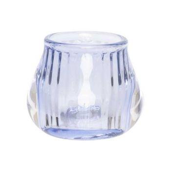Cosy @ Home Teelichthalter Hellblau 8x8xh6,8cm Glas