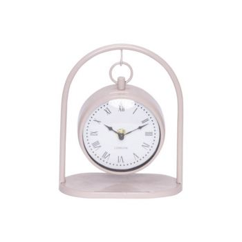 Cosy @ Home Uhr Hanging Rosa 16x8,5xh19,5cm Metall