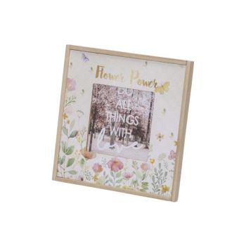 Cosy @ Home Bilderrahm Flowers Weiss 18x1,5xh18cm Qu