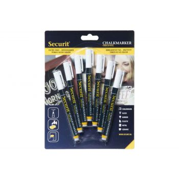 Securit Kreidemarker Set7 Liquid 1-2mm Weiss