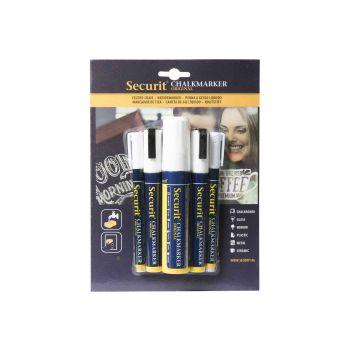 Securit Kreidemarker Set5 Liquid Weiss
