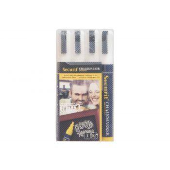 Securit Kreidemarker Set4 Liquid Weiss 2-6mm