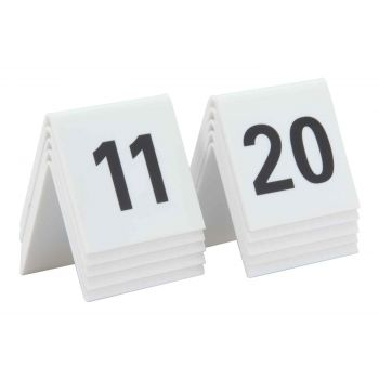 Securit Signs Set10 Tablenumbers White 11-20