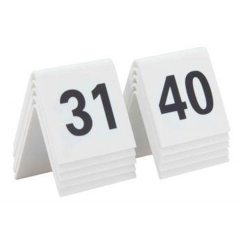 Securit Sings Set10 Tablenumbers White 31-40