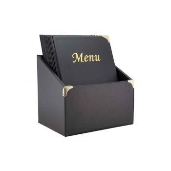 Securit Basic 10x Menuhalter In Box A4 Schwarz