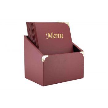 Securit Basic 10x Menuhalter In Box A4 Bordeaux