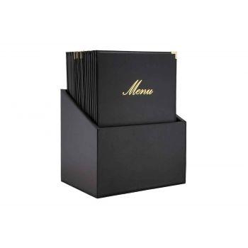Securit Classic 20x Menuhalter In Box Schwarz A4