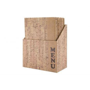 Securit Design Menuhalter In Box Set10 A4 Cork