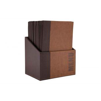 Securit Trendy 20x Menuhalter In Box A4 Braun