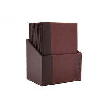 Securit Trendy 20x Menuhalter In Box Bordeaux A4