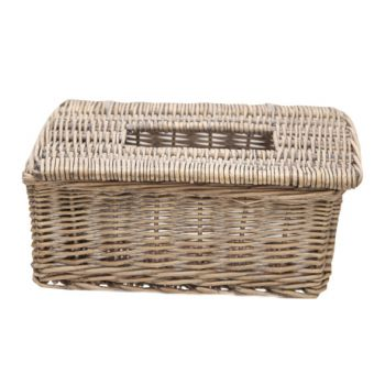 Cosy & Trendy Tissue Basket Brown Willow 26x15xh10.5cm