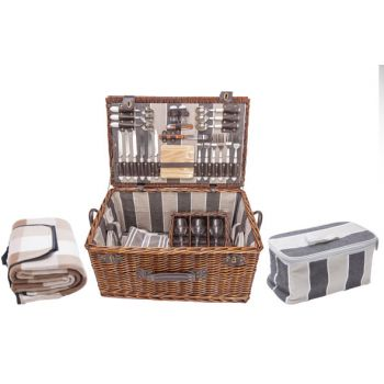 Cosy & Trendy Picnic Basket 6p - Cutlery-plates-glasse