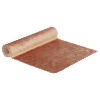 Cosy @ Home Tischlaufer Velvet Rosa 35x200cm Textil