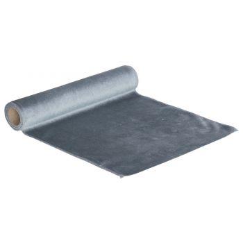 Cosy @ Home Tischlaufer Velvet Blau 35x200cm Textil