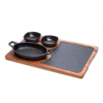Cosy & Trendy Grillpfanne Set4 Dlg 38,5x25xh1,5cm