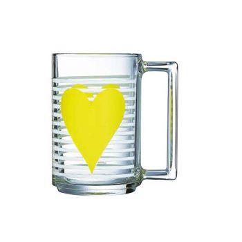 Luminarc Mug Mon Coeur Yellow 32 Cl