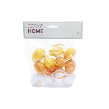 Cosy @ Home Osterei Set12 Mix Orange 4cm Kunststoff