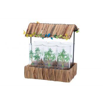 Cosy & Trendy Longdrinkglas Set6 Decal Tiki Hut