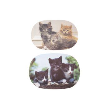 Ricolor Schneidebrett Cats 6 Types Oval