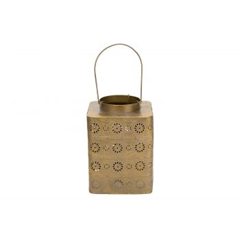 Cosy @ Home Laterne Antique Gold 15x15xh20,5cm Metal