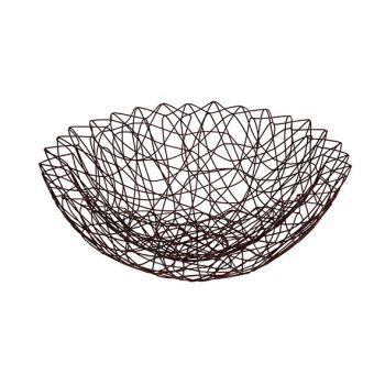 Cosy & Trendy 33x33x11cm Fruit Basket Iron Bronze Powd