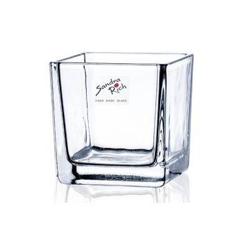 Sandra Rich Teelichtglas Transparent 8x8xh8cm
