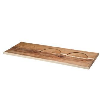 Cosy & Trendy Servingplate Natural Holz 60x23xh2cm