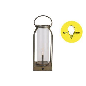 Cosy @ Home Lampe Lantern Gold 14x14xh33,5cm Metall