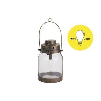 Cosy @ Home Lampe Lantern Gold 17x16xh26,5cm Metall