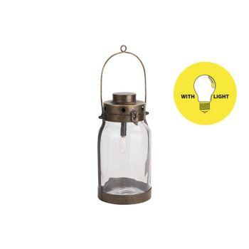 Cosy @ Home Lampe Lantern Gold 16,5x16,5xh32cm Metal