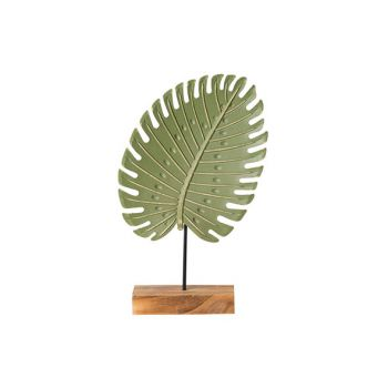 Cosy @ Home Blatt On Foot Grun 17,5x5,5xh29,5cm Holz
