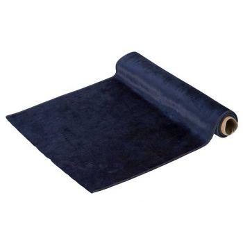 Cosy @ Home Tischlaufer Velvet Dunkel Blau 35x200cm