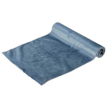 Cosy @ Home Tischlaufer Velvet Ice Blau 35x200cm Tex