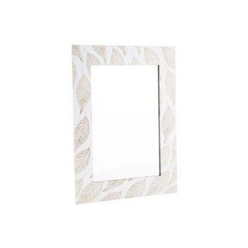 Cosy @ Home Spiegel Leafs Nature Weiss 40x30xh1cm Ho