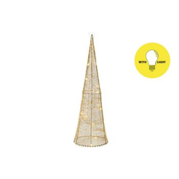 Cosy @ Home Pyramide Silk 20led Ww Gold D13xh40cm Me