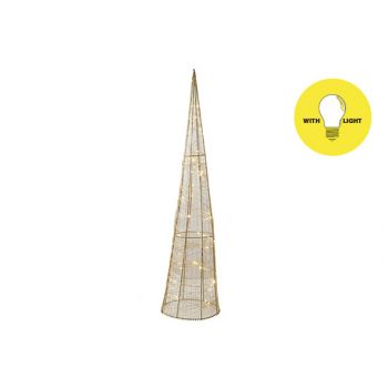 Cosy @ Home Pyramide Silk 50led Ww Gold D20xh80cm Me