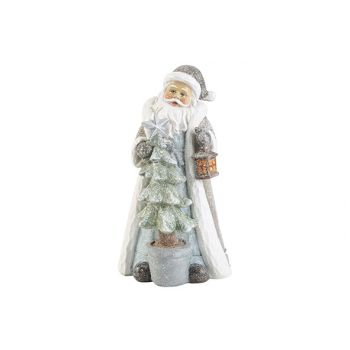 Cosy @ Home Santa With Light Graublau 11x11xh21cm Po
